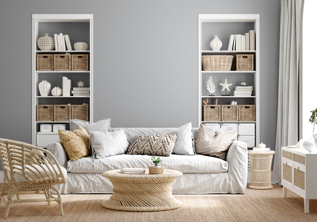 Your new tenants will appreciate neutral wall colors that go with most furnishings.